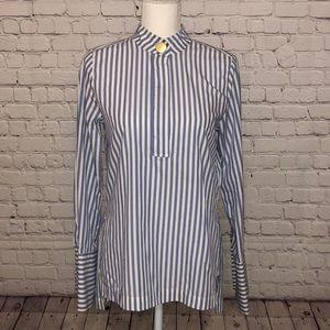 H&M Blue and White button down shirt/tunic, sz 2
